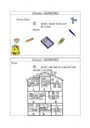 English Worksheet: ORAL EXAM Elementary 3