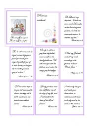 English Worksheets: Bible promisses notebook
