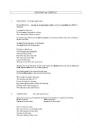 English Worksheets: Negation and Question