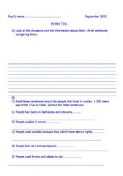 English Worksheet: Comparative and superlative . Simple Past for children. exercises or test