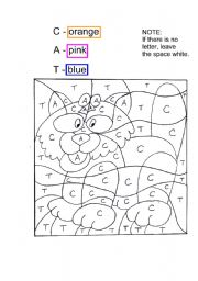 English Worksheets: Paint the Cat