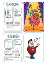 English Worksheet: Job Cards - Set 16