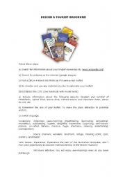 Design a tourist brochure!