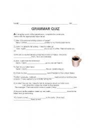 English Worksheet: EXAM: be going to/ will -  passive voice
