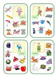 English Worksheet: Have got Cards (Part I)