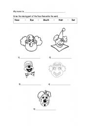 English Worksheets: Missing parts of the face