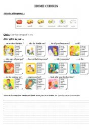 English Worksheet: Home chores