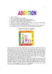 English Worksheets: Adoption