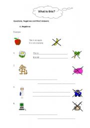 English Worksheet: Present Simple: Negatives, questions and short answers