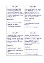 English Worksheet: Inference Samples