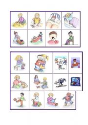 English Worksheets: PEOPLE ACTIONS