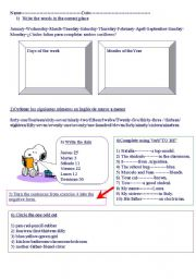 English Worksheet: Verb To Be -Wh questions(1st. and 2nd. part)