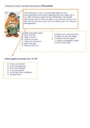 English Worksheets: Second Part of the English Exercise
