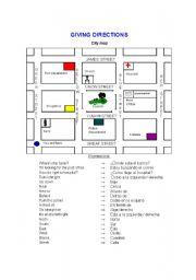 giving directions esl worksheet by amdelou. Black Bedroom Furniture Sets. Home Design Ideas