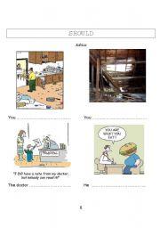 English Worksheet: modal auxiliaries