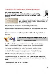 English Worksheets: police catch crooks