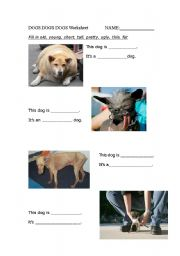 English worksheet: Dogs dogs dogs