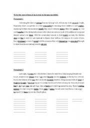 English Worksheets: Error Corrections