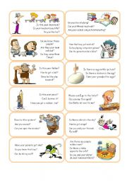 English Worksheet: Short Answer Cards - Set 2