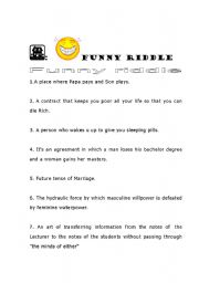 English Worksheets: Funny Fiddle