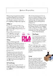 English Worksheets: The magic of flirting