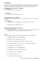 English Worksheets: Conditionals for the TOEFL iBT