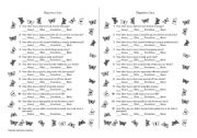 graphic about Happiness Quiz Printable titled Contentment Quiz - ESL worksheet as a result of Andressa