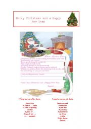 English Worksheet: A Letter to Santa Claus