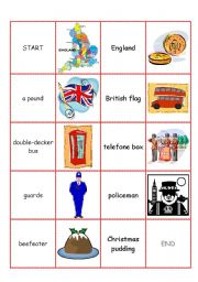 England domino cards part I (symbols of England)