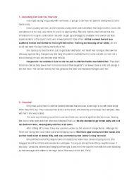 English Worksheet: TERROR SHORT STORIES