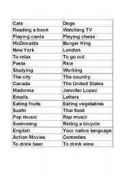 English Worksheet: Expressing Preference + Comparatives