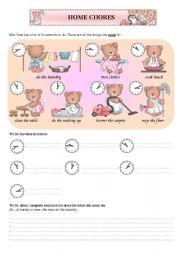 English Worksheet: Home chores/ housework