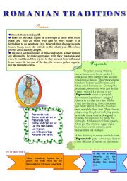 English Worksheets: ROMANIAN TRADITIONS