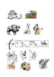 English Worksheet: Indians and chores