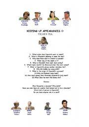 English Worksheet: Keeping up appearances Vicar�s tea