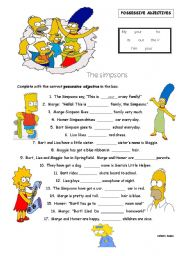 English Worksheet: Possessive Adjectives