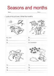 english teaching worksheets months and seasons. Black Bedroom Furniture Sets. Home Design Ideas