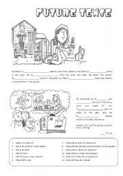 Tense future worksheets pdf