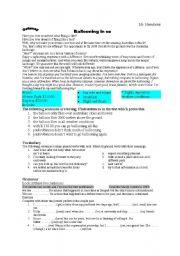 English Worksheets: getaway
