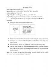 English worksheet: ten minute activity