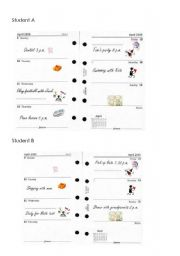 English Worksheet: Matty�s Diary - Plans - Present Continuous for the future / Going to