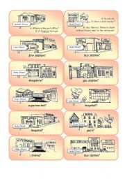 English Worksheets: Mini Town Cards - Set 1