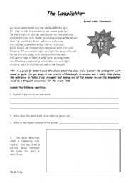 English teaching worksheets: Poetry