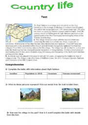 English Worksheet: lThe countryside