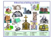 English Worksheet: Buildings And Shelters Picture Dictionary