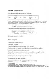 English Worksheet: Double Comparatives (Combined Comparison) or