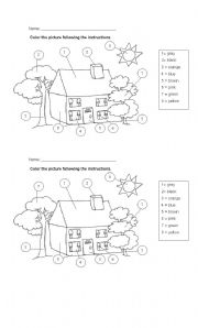 Coloring the house