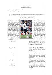 English Worksheets: describing experiences