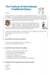 English Worksheets: Dance Festival