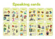 English Worksheet: can speaking cards